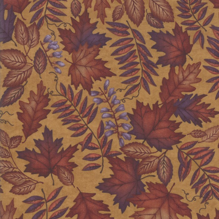 Swatch Image of Moda Fabric Country Charm Autumn Charm Gold