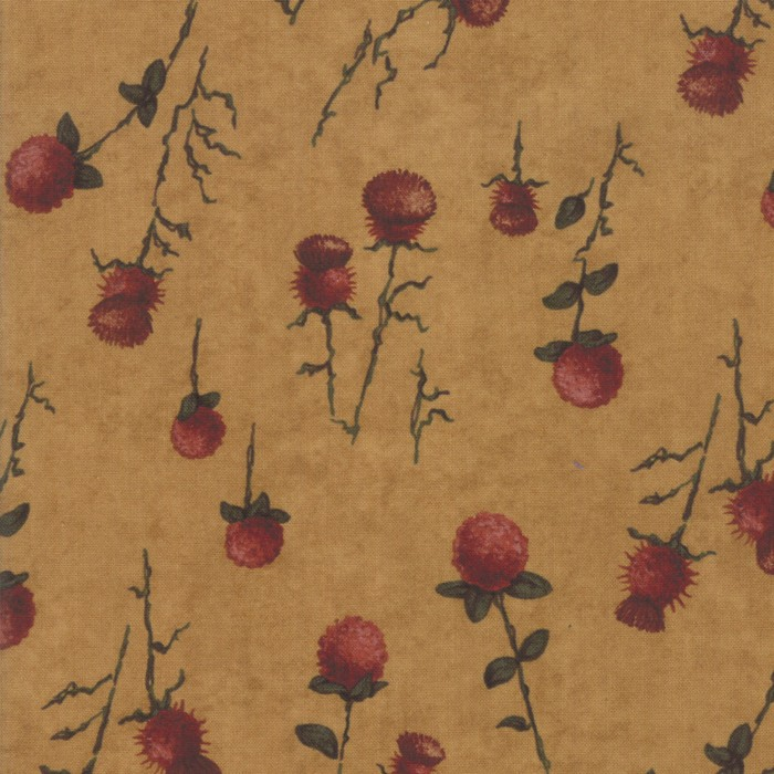 Swatch Image of Moda Fabric Country Charm Thistle Clover Gold