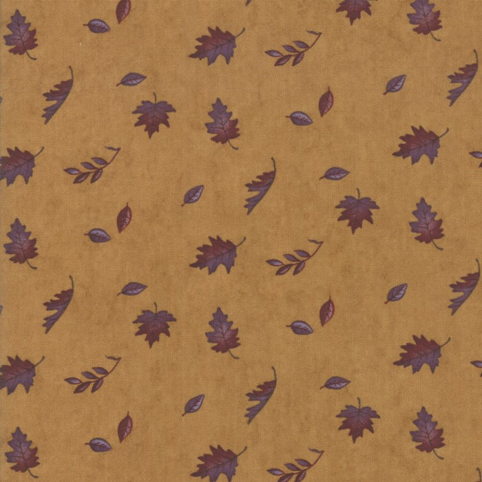 Swatch Image of Moda Fabric Country Charm Falling Leaves Gold