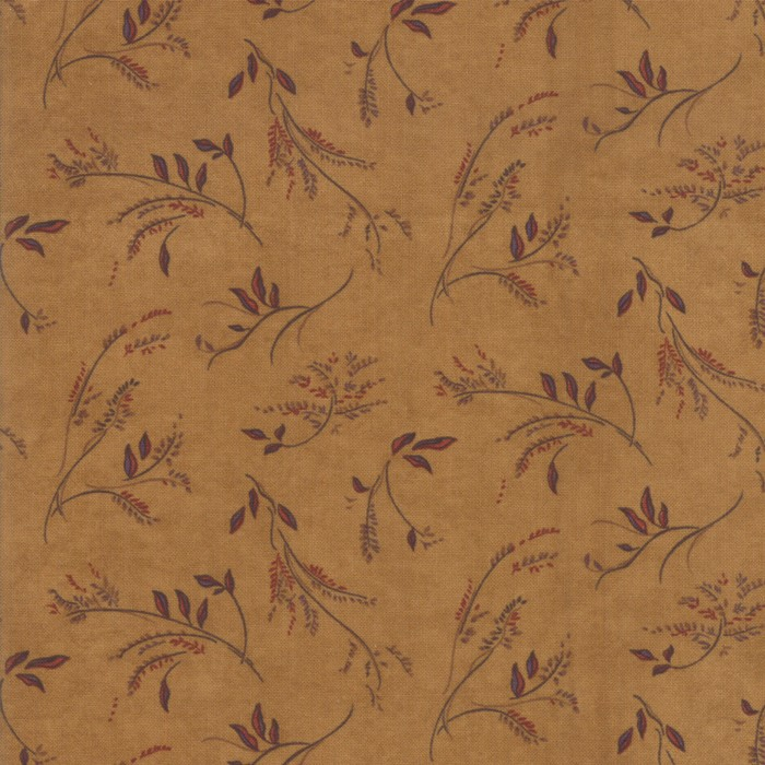 Swatch Image of Moda Fabric Country Charm Weeds Gold