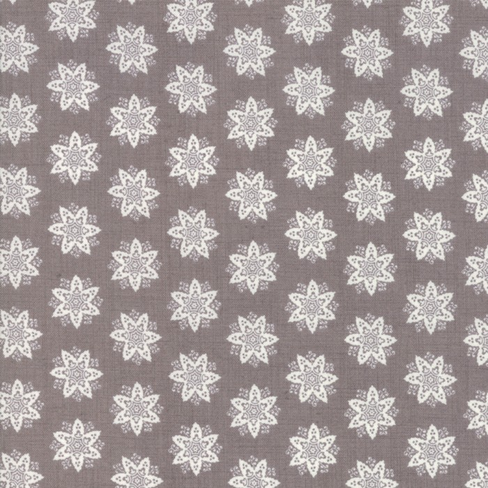 Large Image of Moda Fabric Fleur De Noel French Grey Anemone