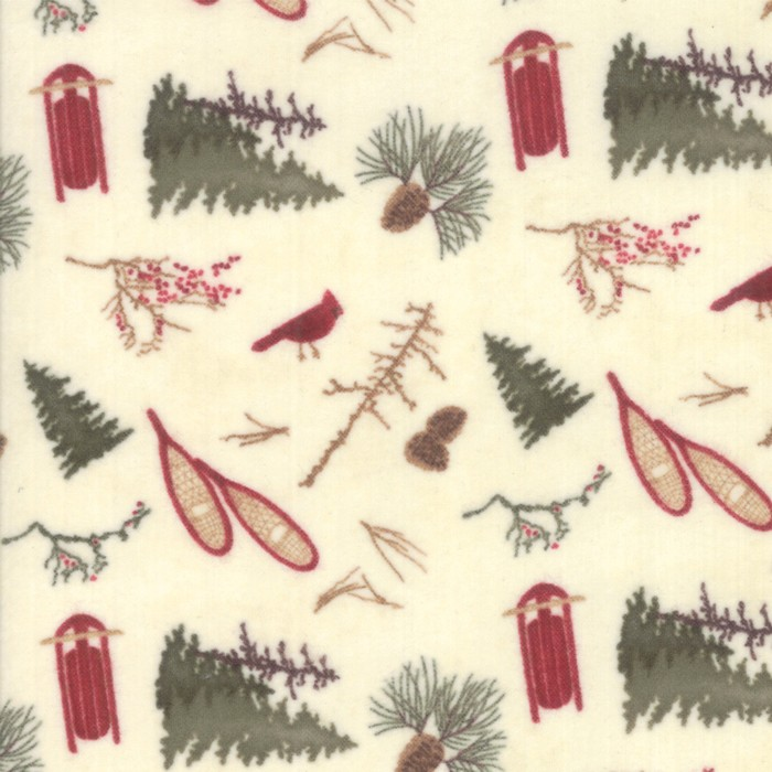 Large Image of Moda Fabric Frosted Flannel Ivory Frosted Park Natural
