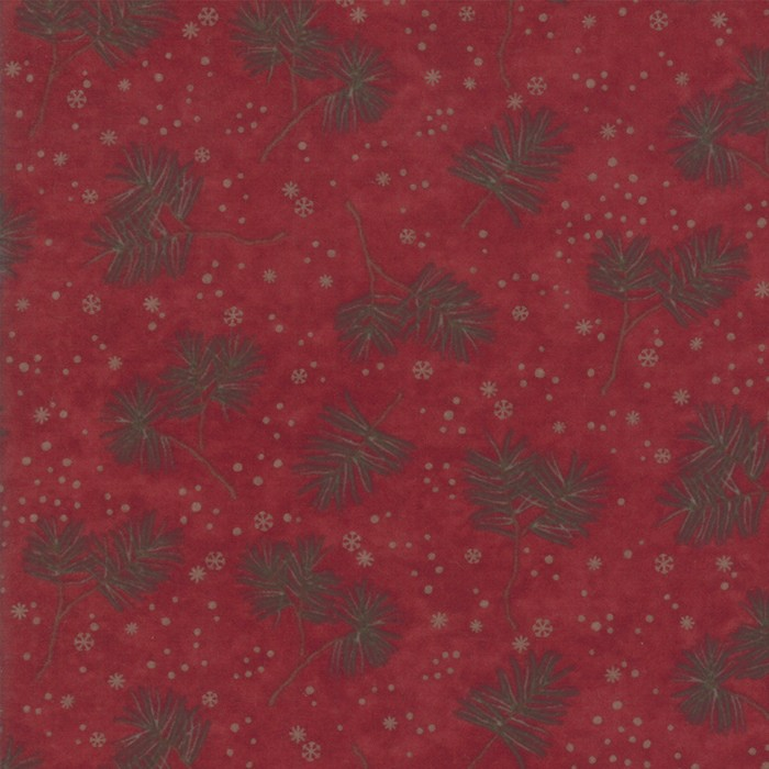 Large Image of Moda Fabric Frosted Flannel Cardinal Winter Greens
