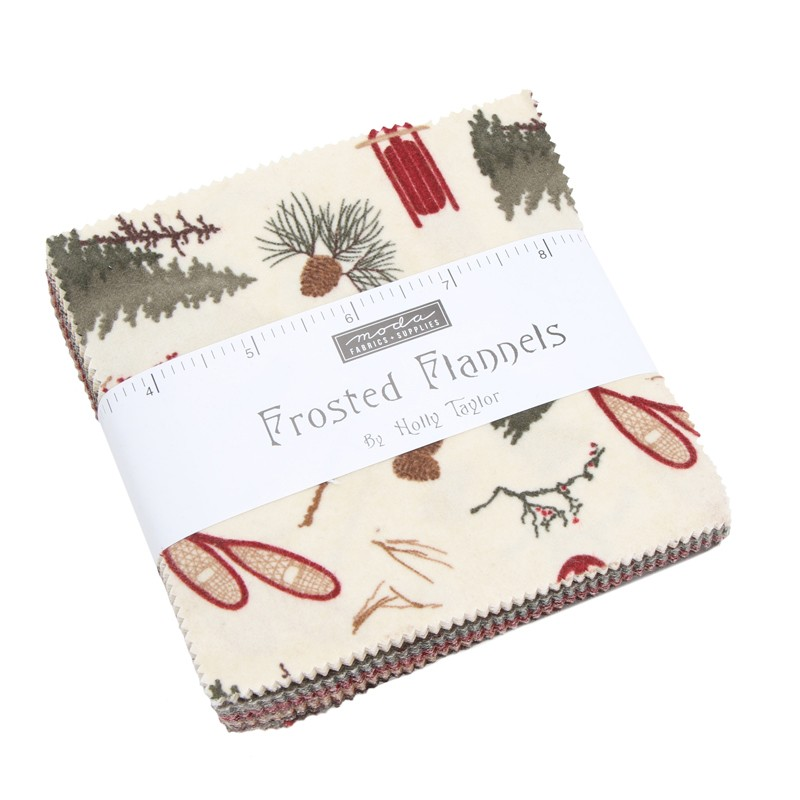 Large Image of Moda Fabric Frosted Flannels Charm Pack
