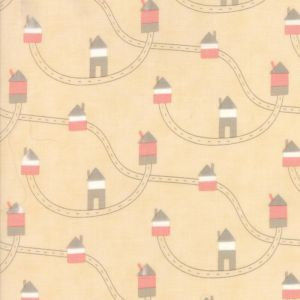 Small Image of Moda Fabric Corner Of 5th And Fun Brushed Cotton Highways Byways Rosie Cheeks