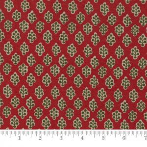 Small Image of Moda Fabric Petites Maisons De Noel Belle Rouge Red