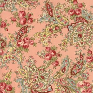 Small Image of Moda Fabric Roses and Chocolate II Foulards Roses Rose Pink