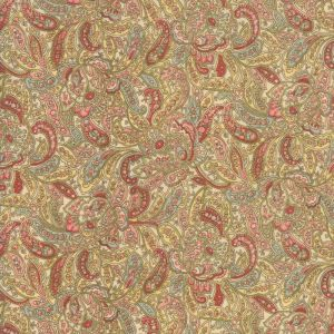 Small Image of Moda Fabric Roses and Chocolate II Small Foulards Roses Ivory