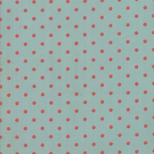 Large Picture of Moda Fabric 101 Maple Street Deep Dish Dots Seafoam Persim