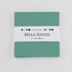 Large Image of Moda Fabric Bella Solids Charm Pack Betty Teal