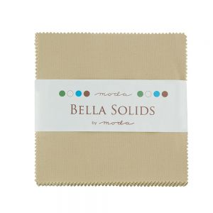 Large Image of Moda Fabric Bella Solids Charm Pack Tan
