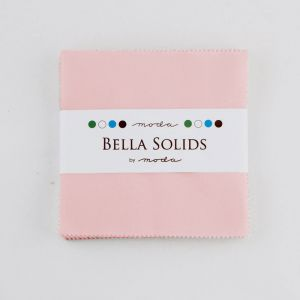 Large Image of Moda Fabric Bella Solids Charm Pack Sisters Pink