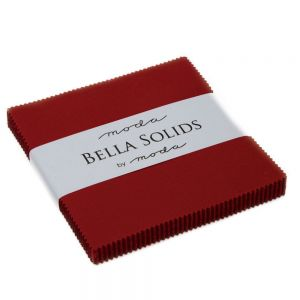 Large Image of Moda Fabric Bella Solids Charm Country Red