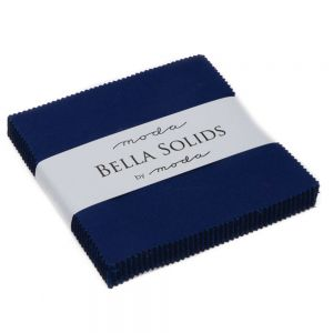 Large Image of Moda Fabric Bella Solids Charm Pack Royal