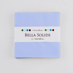 Large Image of Moda Fabric Bella Solids Charm Pack Baby Blue