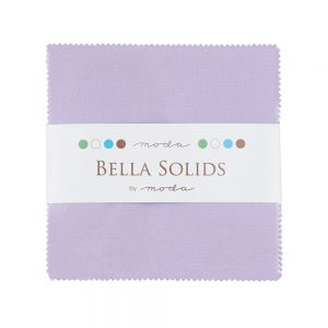 Large Image of Moda Fabric Bella Solids Charm Pack Lilac