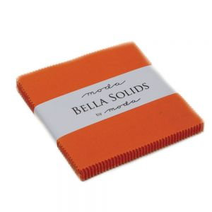 Large Image of Moda Fabric Bella Solids Charm Pack Orange