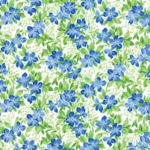Small Image of Moda Fabric Summer Breeze V Vinca Ivory
