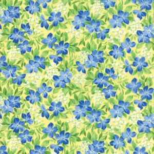 Moda Fabric Summer Breeze V Vinca Yellow