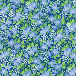 Small Image of Moda Fabric Summer Breeze V Vinca Royal