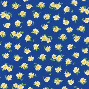 Small Image of Moda Fabric Summer Breeze V Daisies Royal
