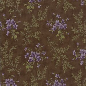 Large Image of Moda Fabric Sweet Violet Ferns Earth