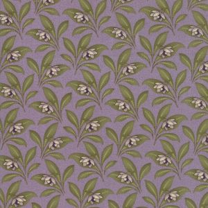 Large Image of Moda Fabric Sweet Violet Leaves Lilac