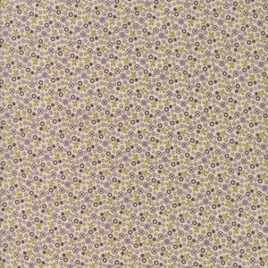 Small Image of Moda Fabric Sweet Violet Tiny Floral Ivory