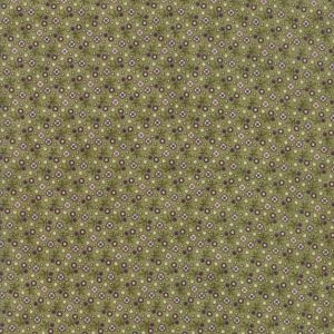 Small Image of Moda Fabric Sweet Violet Tiny Floral Leaf