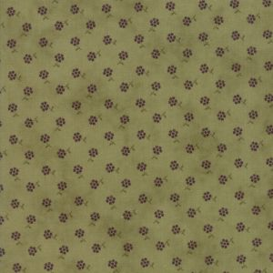 Small Image of Moda Fabric Sweet Violet Posy Leaf