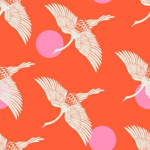 Ruby Star Fabric Florida Egrets Fire RS2023 11