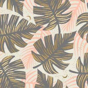 Ruby Star Fabric Florida Shade Palms Slate Gray RS2024 13M