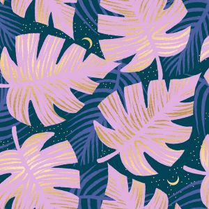 Ruby Star Fabric Florida Shade Palms Peacock RS2024 15M